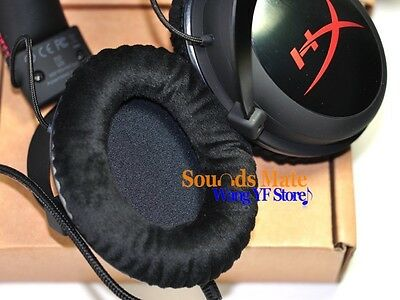Smooth Velvet Cushion Ear Pads For HyperX Hyper X Cloud Gaming Headset Headphone