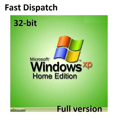 Windows XP Home Edition SP3 with COA License / Product Key + CD System 32-bit