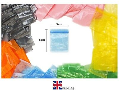 Colour Plastic Bags Self Press Seal Grip Resealable Zip Lock Poly Polythene UK