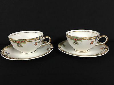 Edwin M. Knowles China - Set of 2 Cups and Saucers