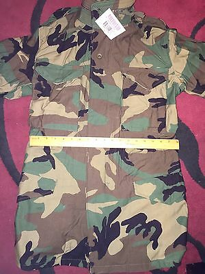 NWT M-65 MILITARY WOODLAND Coat FIELD JACKET BDU Cold Weather EXTRA SMALL LONG