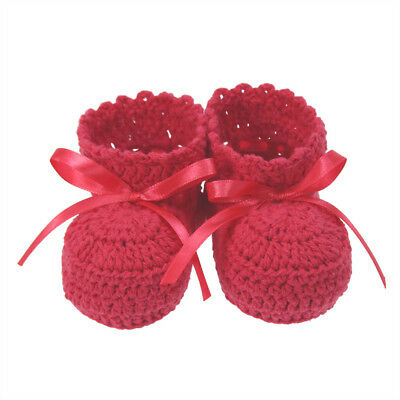 NEW DLUX Minnie Hand Crocheted Cotton Booties  Rose