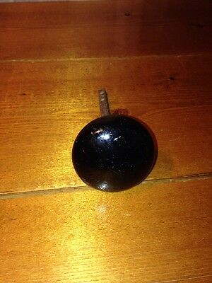Antique Black Glass Door Knob!