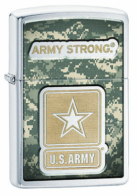 Zippo Windproof U.S. Army Camo Lighter, Army Strong, 28754, New In Box