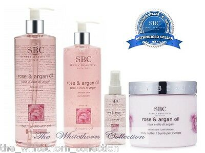 SBC Rose and Argan Oil Complete Collection, ideal for fragile, delicate skin