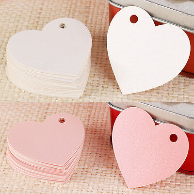 50 Handmade Luggage Label Gift Tags Love Heart For Wedding Favour Or Name Card
