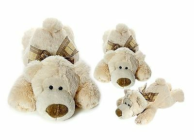 Set Three Very Soft Cuddly Plush Polar Bear Soft Toys