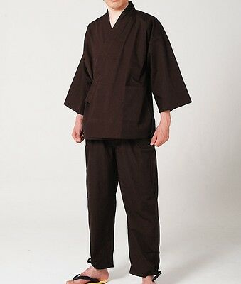 Japanese Men's Traditional Summer Work Wear SAMUE Brown 5size from Japan