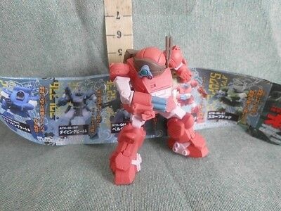 Gundam Red Gashapon Action Figure  Robot Anime Model Japan