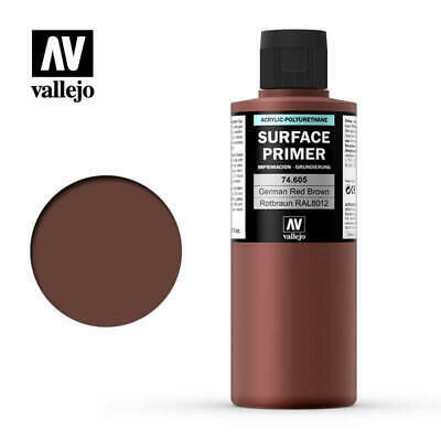 Vallejo Airbrush - Model Air - Surface Primer German Red Brown 200Ml - 74.605