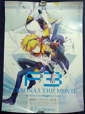 PERSONA 3 THE MOVIE #2 P3 Advertising Poster Japan limited Rare NEW!!