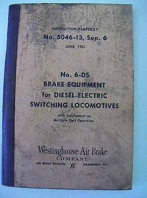 Brake Equipment for Diesel Electric Switching Locomotives 1953 6-DS 5046-13