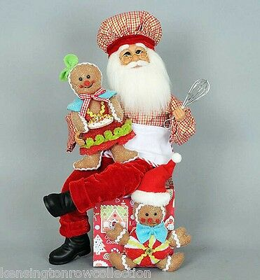 Christmas Decorations - Santa With Gingerbread