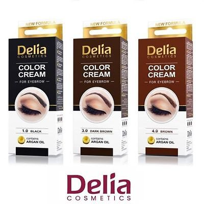 DELIA HENNA / COLOR CREAM EYEBROW PROFESSIONAL TINT KIT SET Brown / Black