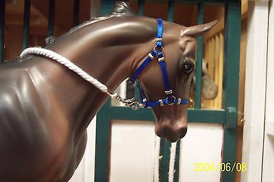 Jaapi ROYAL BLUE halter w/rope lead-fits Breyer traditional, not for real horses