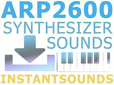 ARP 2600 SYNTH SOUND REASON NNXT REFILL EXS 24 Akai MPC Soundfont WAV  Samples DL