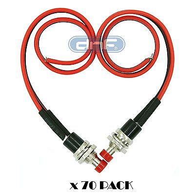 70 Pack Pre-Wired Mini Momentary Push Button 12V On Off N/O Lockless Switch Spst