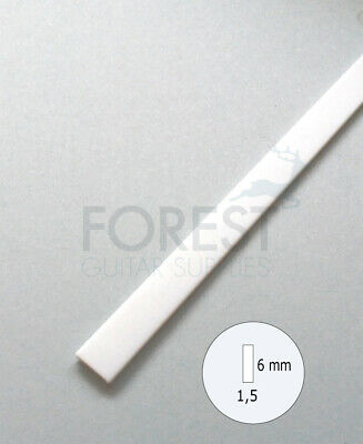 Guitar Binding material white ABS plastic 6 x 1.5mm