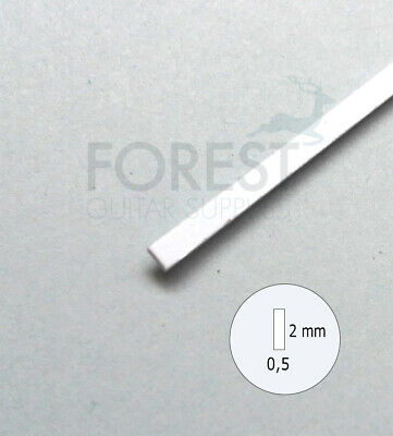 Guitar Binding material white ABS plastic 2 x 0.5mm
