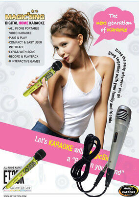 MAGIC SING karaoke ET25K FREE Bag Binder Duet Mic 2300 Tagalog English Songs