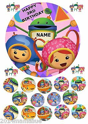Team Umizoomi 75 Round Cake Topper Wafer Card Rice Paper 18 Cupcake Toppers