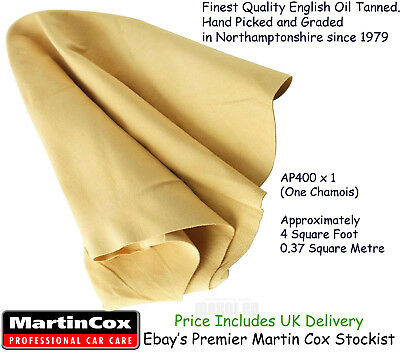 Genuine Chamois Leather Top Quality Natural Cod Oil Tanned Sheepskin 4 sq ft