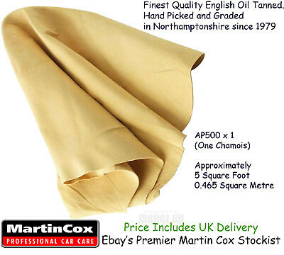 Genuine Chamois Leather Top Quality Natural Cod Oil Tanned Sheepskin 5 sq ft