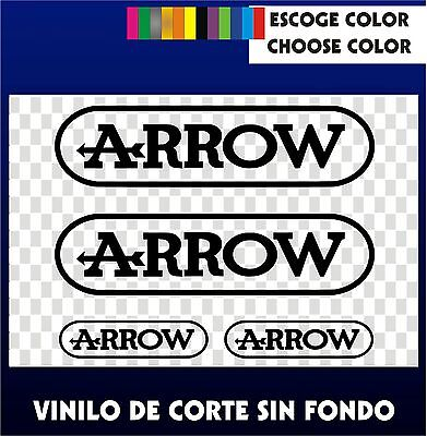 4 X PEGATINAS -STICKER- VINILO - PACK - ARROW- Moto Sponsor - AUTOCOLLANT