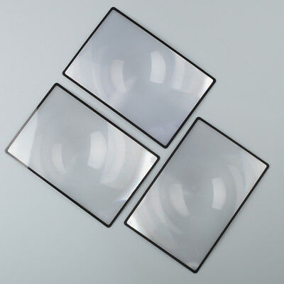 3x A5 Flat PVC Magnifier Sheet 180X120mm Book Page Magnifying Reading Glass Lens