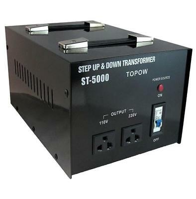 5000W Watt Step Up Down Electric Power Voltage Converter Transformer Heavy Duty
