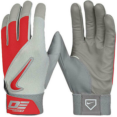 NIKE Diamond Elite Edge Cabretta Leather Palm Batting Gloves Mens Small