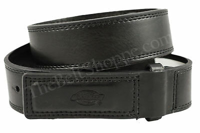 Dickies Mechanics No-Scratch Black Leather Work Belt - 11DK02L4 - Sizes SM-XL