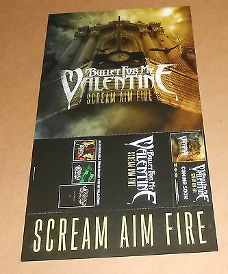 Bullet For My Valentine Scream Aim Fire Poster 2-Sided Flat Tour Promo 12x21