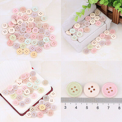 New Scrapbook And DIY Sewing Craft Buttons Mixed Fit Scrapbooking 4 Holes 50pcs