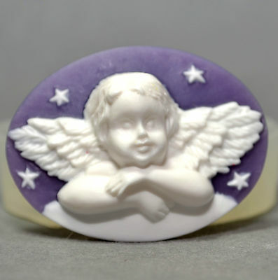 ANGEL SILICONE MOLD cherub cupcake soap polymer clay fimo resin was mould wax