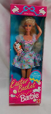 Barbie Doll Easter Basket Special Edition 1995 Mattel #14613 NIB 10I
