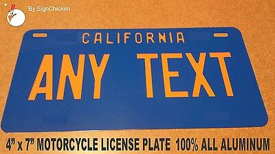 Personalized California Custom Novelty State License Plate, VINTAGE REPLICA 4X7