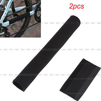 New 2x Black Bike Cycling Bicycle Frame Chain Stay Care Protector Cover Guard