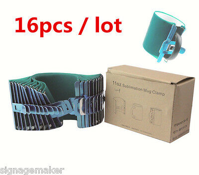 16pcs 3D Sublimation Silicone Mug Wrap, 11OZ Cup Clamp Fixture for Printing Mugs