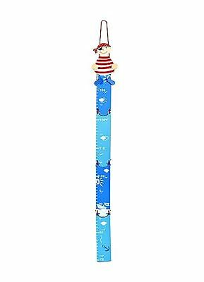 Kids Baby Blue Pirate Height Growth Chart Boys Bedroom or Nursery Decoration