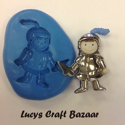 Silicone Mould Knight Fairytale Party Cupcake Topper Sugarcraft Button Pop Fimo