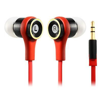 20 X Flat Cable In-Ear 3.5mm Earphone Earbuds HeadPhone For Cellphone Mp3 4