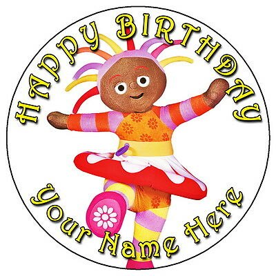 "In The Night Garden Upsy Daisy Fun - 7.5"" Personalised Edible Icing Cake Topper"