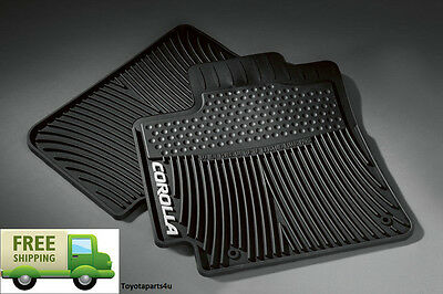 Toyota Corolla 2009 - 2013 Black All Weather Front Floor Mats - OEM New!