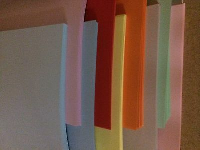 COLOURED PAPER AND CARD A4 80gsm 160gsm all colours copier  paper