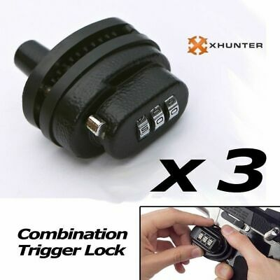3 x 3-Dial Combination Trigger Lock with password for Rifle, Shotgun firearm