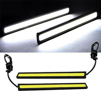 Waterproof 2Pcs Super Bright COB Car LED Lights 12V For DRL Fog Driving Lamp