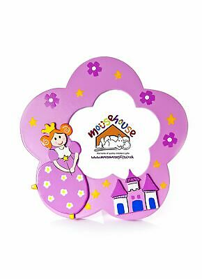 Princess Castle Photo Frame For Girls Pink Nursery Bedroom Mousehouse
