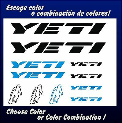 Kit - Pegatinas - Stickers - Vinilo -Lamina- Pack- Bicicleta - Bike - Yeti