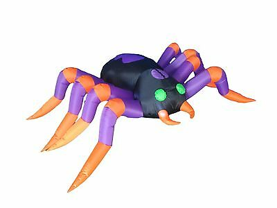 8 FT Long Halloween Inflatable Lighted Spider Garden Yard Decoration Stage Prop